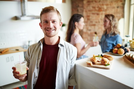 Guy with drink