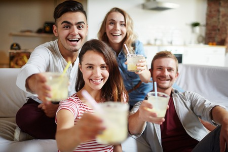 Cheers with drinks