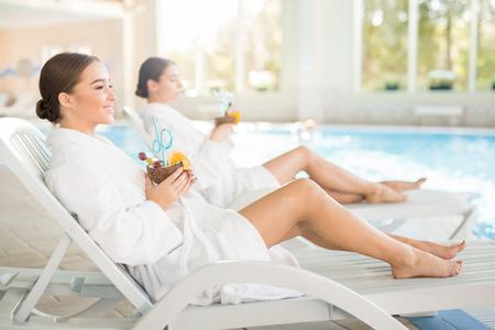 Girls relaxing Stock Photo