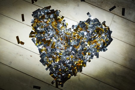 Hart van goud en zilver