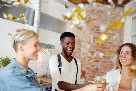 Cheers of party Stock Photo