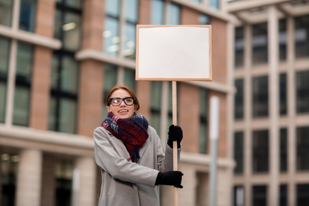 ビジネス抗議 写真素材