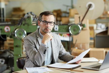 Ingenieur in de workshop Stockfoto