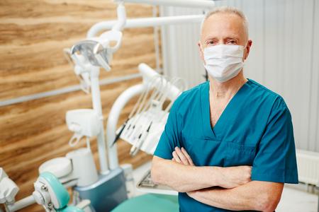 Dentist in mask
