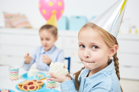 Eating cake Stock Photo