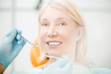 Visit to dentist Stock Photo