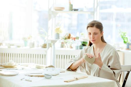 Woman in workroom
