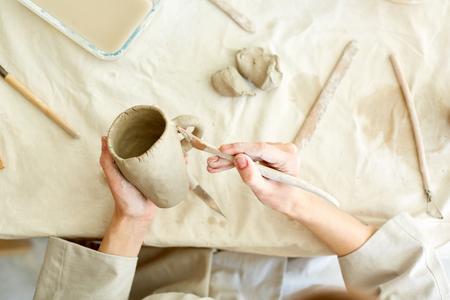 Working over mug Reklamní fotografie