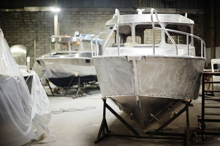 New boats 스톡 콘텐츠