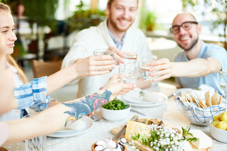Toasting for health Stock Photo