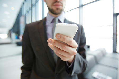 Smartphone of businessman