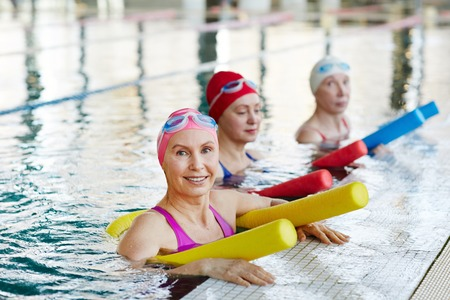 Workout in swimming-pool Stock Photo - 101255836