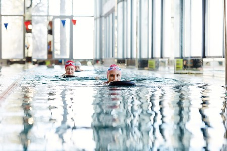 Swimming with friends Stock Photo - 101255904