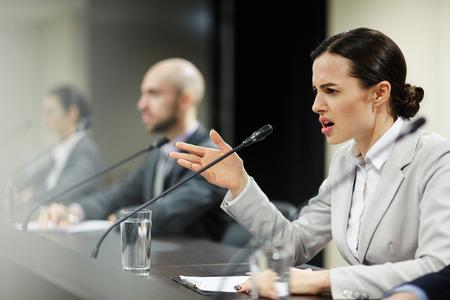 Displeased delegate