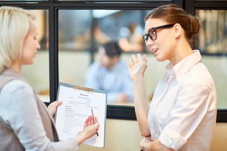 Discussing resume
