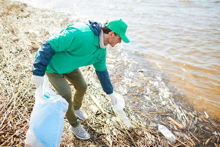 River cleaning Stock Photo