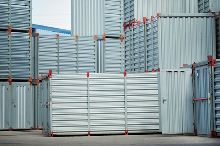 Lots of new metallic storage containers where various supplies and loads are kept