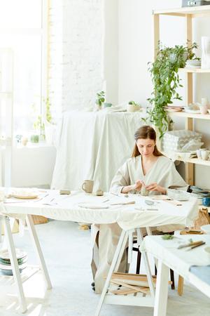 Woman in studio Stock fotó