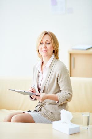 Beautiful woman working in psychiatry Stock Photo