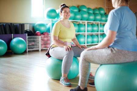Workout on fitballs Stock Photo - 103103188