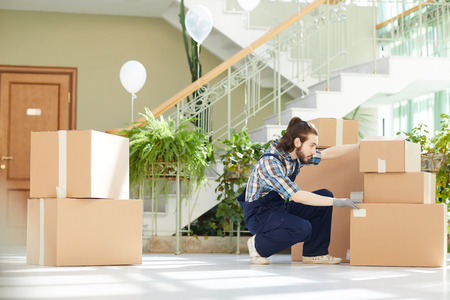 Young mover finding necessary box