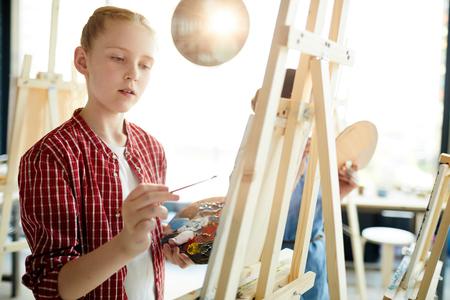 Student of art school