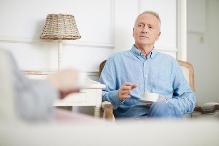 Conversation with spouse Banco de Imagens