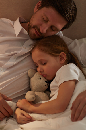 Sleeping with father Banco de Imagens - 103635500
