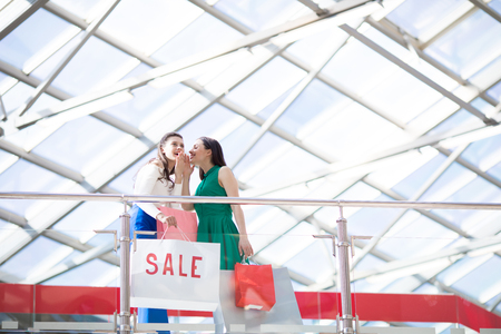 Shoppers gossipping Stock Photo