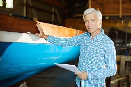 Professional shipbuilder Stockfoto