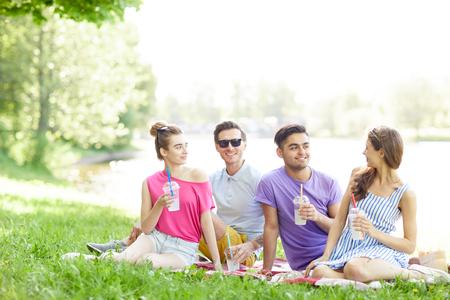 Resting teens Imagens