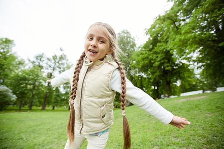 Girl at playground.