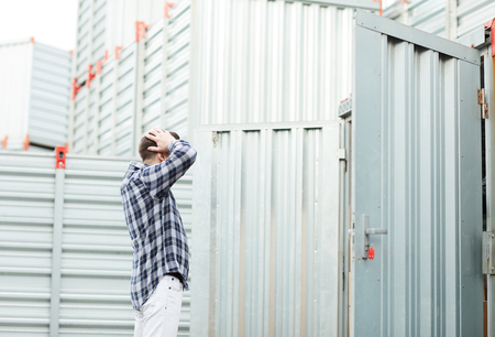 Container owner frustrated because of burglary