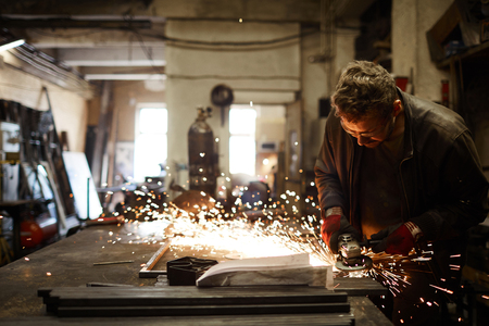 Blacksmith at work Stockfoto