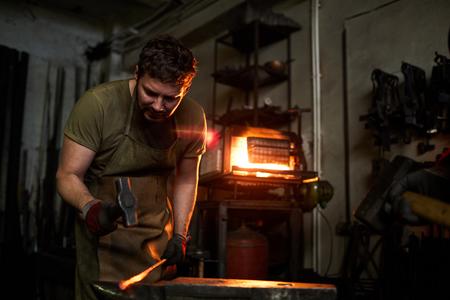 Forging iron workpiece