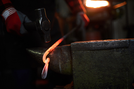 Work of blacksmith