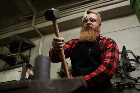 Forging in smithy Stock Photo