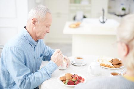 Dessert eten