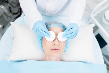 Eye beauty procedure Фото со стока