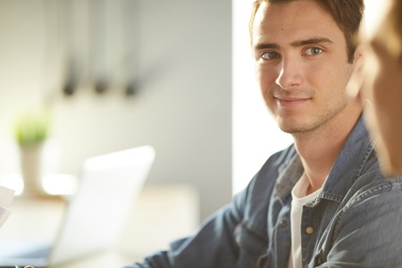 Modern Handsome Man in Office