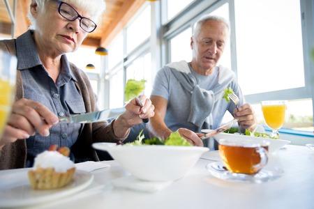 Seniors Eating Salads