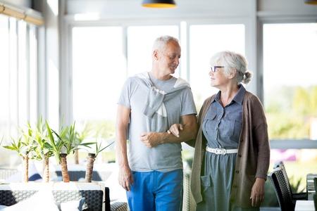 Loving Senior Couple on Vacation 写真素材