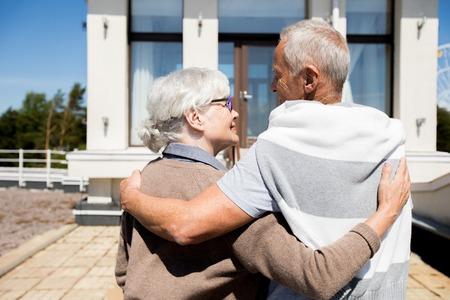 Senior Couple Entering New House