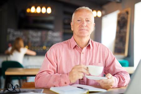 Man having coffee-break