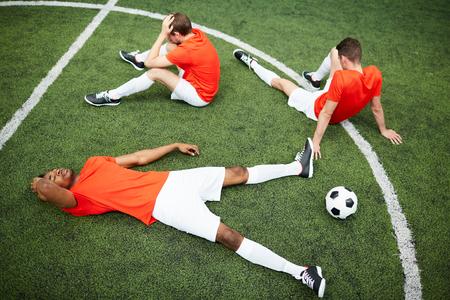 Break on football field