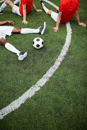 Rest on football field