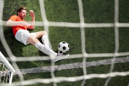 Goalkeeper with ball Banco de Imagens