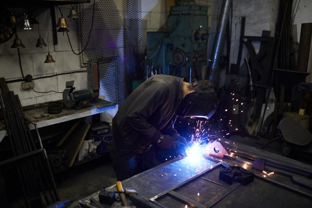 Concentrated on welding process