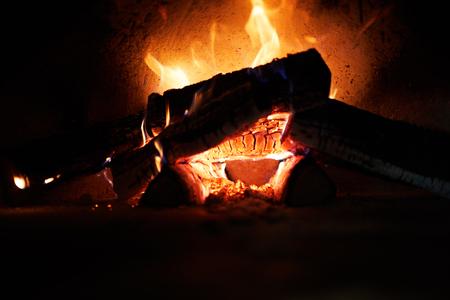 Firewoods burning
