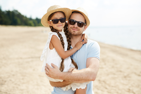 Man with daughter